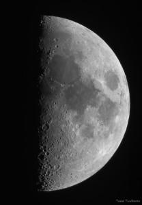 Kuu esimene veerand, pildistatud 25.05.2015.